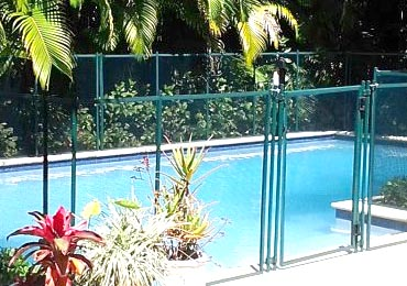 Green Pool Fence